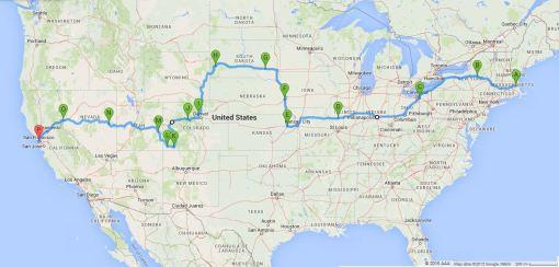 5,000 miles, 16 states, 18 days.